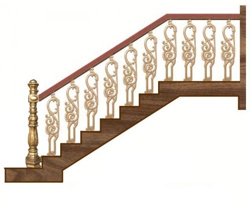 Mẫu cầu thang nhôm đúc cho ngôi nhà sang trọng