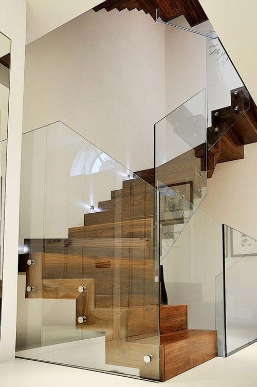 Thiết kế cầu thang kính bền đẹp, sang trọng - 6