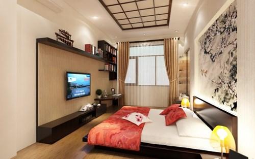 Phòng ngủ master dành cho bố mẹ nhẹ nhàng theo phong cách Nhật