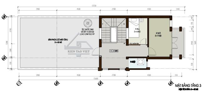 Thiết kế nhà phố 2,5 tầng diện tích 7x15m | ảnh 4
