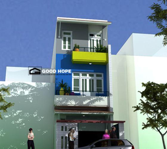 Thiết kế nhà phố 3 tầng trên diện tích 5x20m