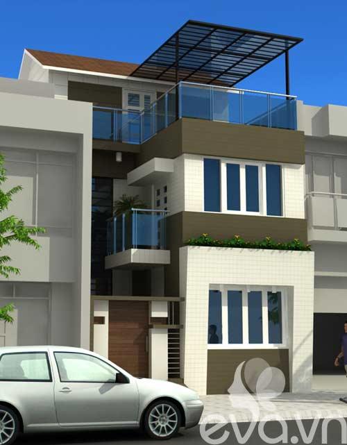 Thiết kế nhà 2 tầng, diện tích 6m X 8m