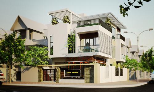 Tư vấn thiết kế nhà đẹp 2 mặt tiền 9m x 15m | ảnh 1