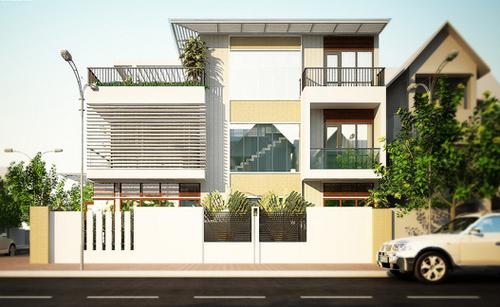 Tư vấn thiết kế nhà đẹp 2 mặt tiền 9m x 15m | ảnh 2
