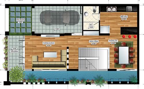 Tư vấn thiết kế nhà đẹp 2 mặt tiền 9m x 15m | ảnh 3