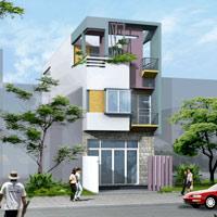 Thiết kế xây nhà 60m2 trên đất hình thang