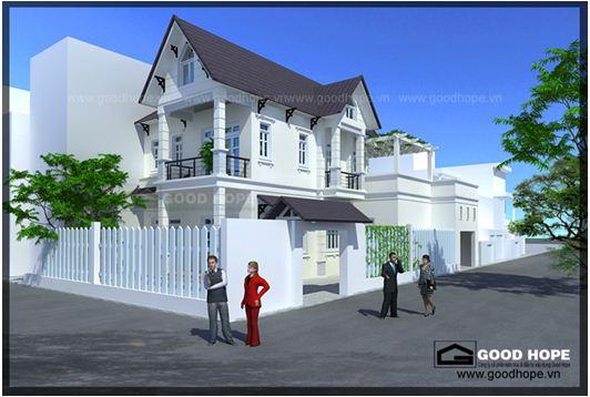 Thiết kế nhà biệt thự hiện đại trên đất 2 mặt tiền
