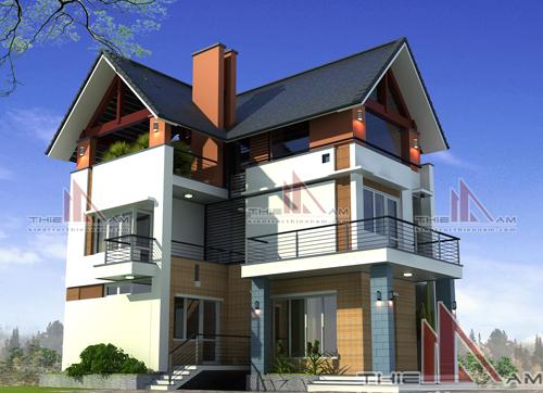 Thiết kế nhà hiện đại giá 800 triệu đồng