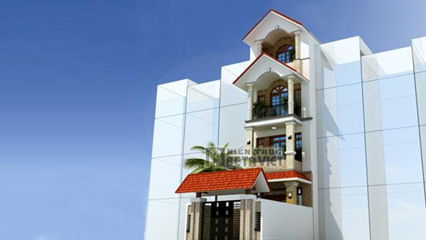 Thiết kế nhà phố đẹp theo kiến trúc Châu Âu