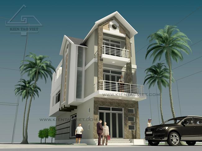 Thiết kế nhà phố 2,5 tầng diện tích 7x15m