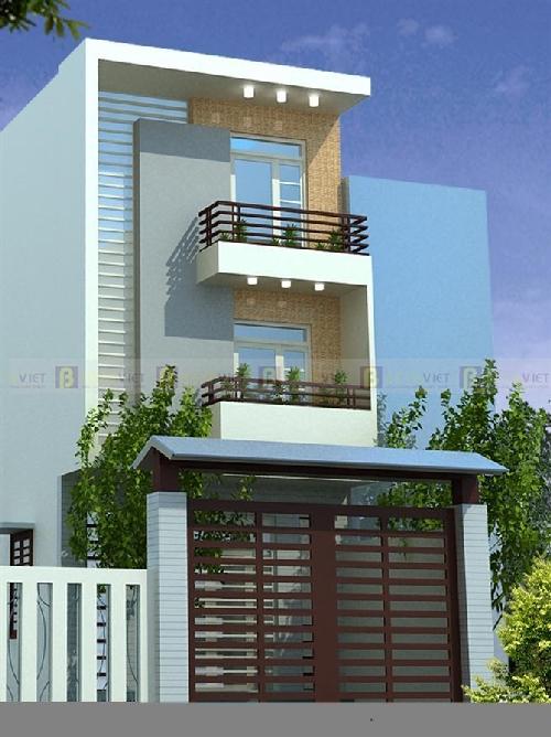 Tư vấn xây dựng nhà 3 tầng kiểu lệch tầng diện tích 4,3 x 12,3m