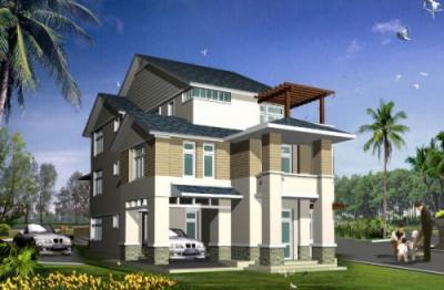 Mẫu nhà đẹp- Mẫu thiết kế biệt thự 2 tầng sang trọng