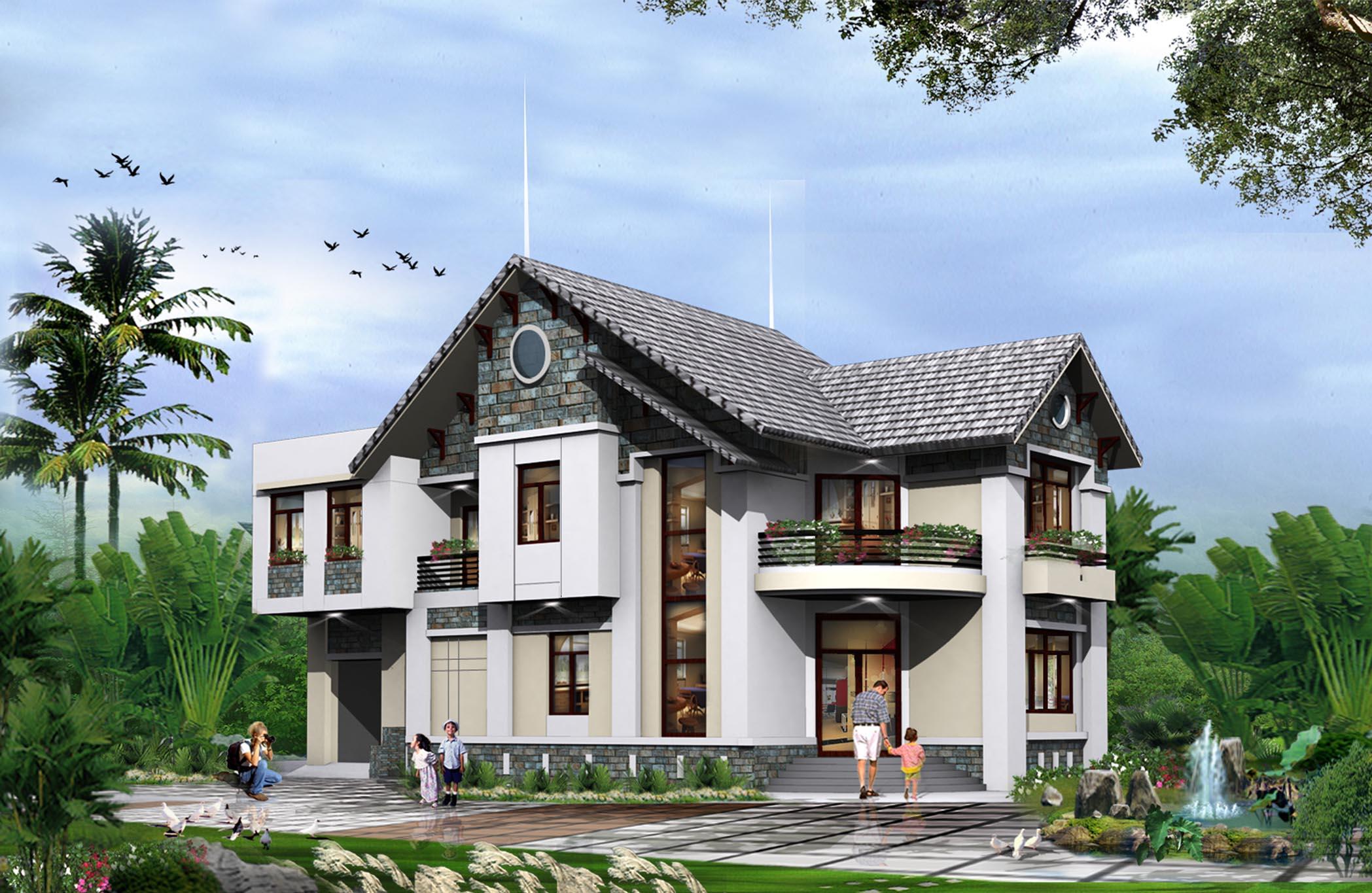 Thiết kế biệt thự vườn trên mảnh đất 300m2