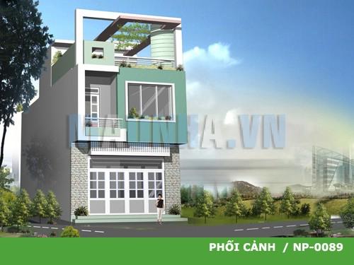 Tư vấn xây nhà 2 tầng diện tích 4*16m