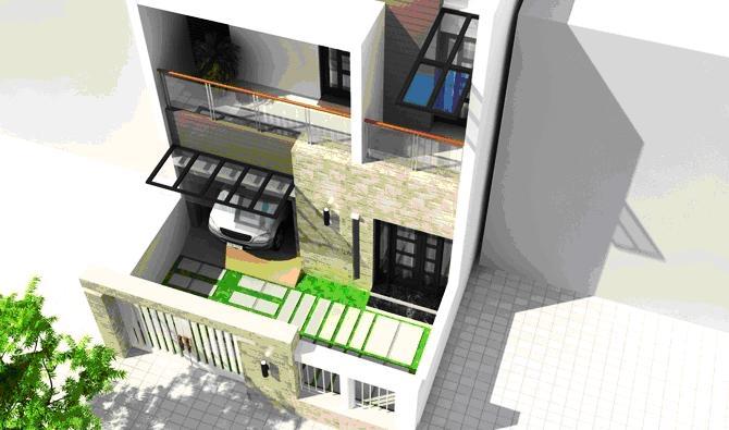 Tư vấn xây nhà cấp 4 - mẫu nhà 1 trệt 1 lầu tổng diện tích là 92.8m2