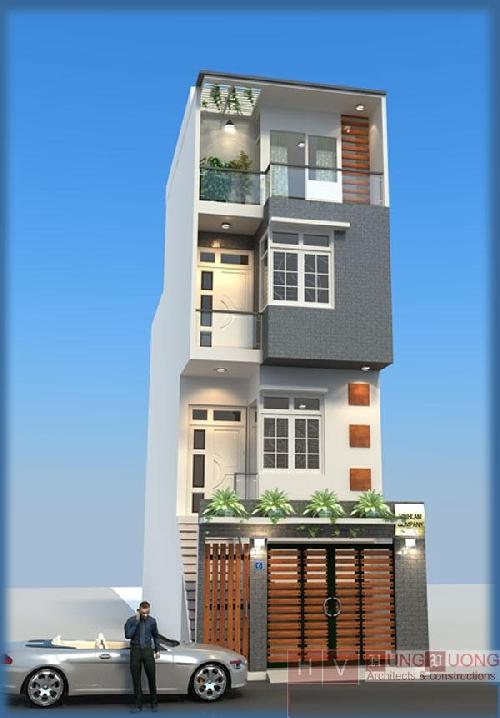 Mẫu nhà đẹp- nhà 4 tầng