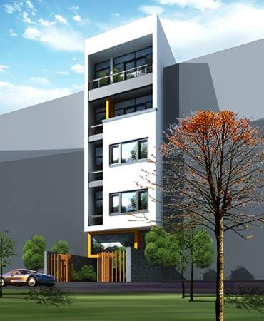 Tư vấn xây nhà 5 tầng hợp phong thủy trên đất 6 x 24 m, có chỗ để ôtô