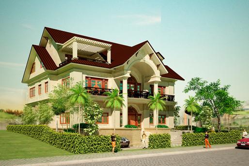 Mẫu nhà 2 tầng đẹp theo kiểu biệt thự