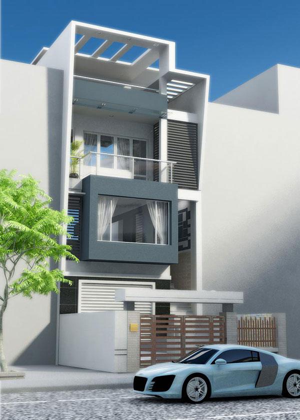 Tư vấn thiết kế nhà mặt tiền hẹp 3 x15 m theo phong thủy