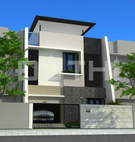 Thiết kế nhà phố diện tích 75m2-(5x15m)