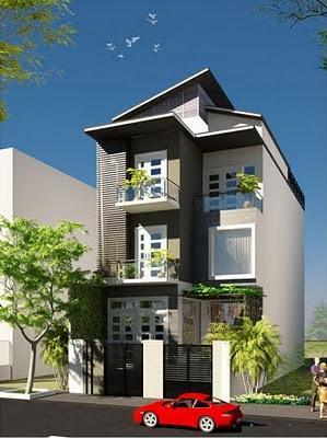 Mẫu nhà đẹp-Mẫu nhà 3 tầng hiện đại sang trọng