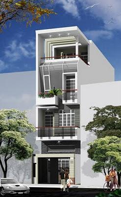 Mẫu nhà đẹp-Mẫu nhà 3,5 tầng đẹp