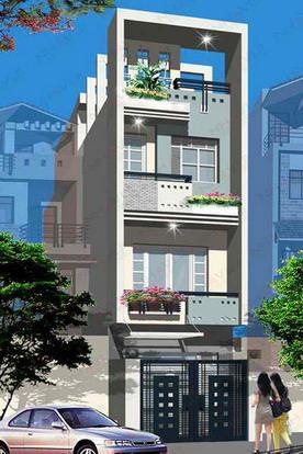 Mẫu nhà đẹp diện tích 40m2 với  3 tầng 1 tum