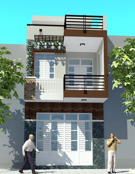 Tư vấn xây nhà 2 tầng diện tích 4x12m