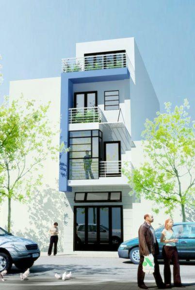 Mẫu nhà đẹp- Mẫu nhà 3 tầng mặt phố