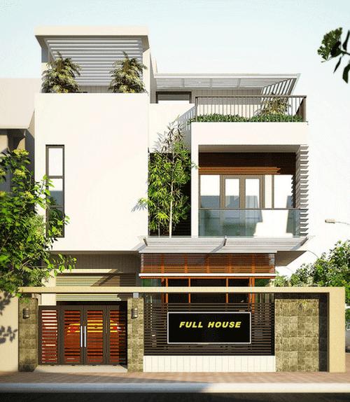 Mẫu nhà đẹp-những mẫu nhà phố hiện đại
