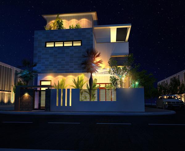 Tư vấn thiết kế xây nhà 2 tầng trên đất vuông 11x11m | ảnh 2