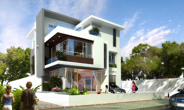 Mẫu nhà đẹp-biệt thự đẹp 3 tầng 12x25m