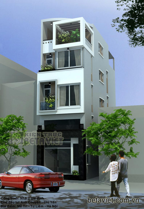Tư vấn thiết kế nhà ở kết hợp kinh doanh 5mx15m
