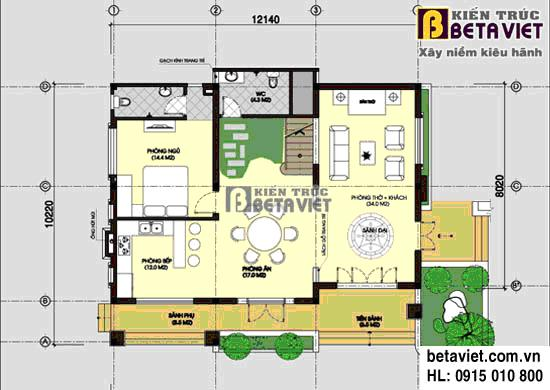 Tư vấn thiết kế xây nhà trên đất hình vuông, diện tích 160m2 | ảnh 1