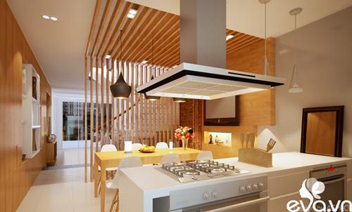 Thiết kế nhà liền kề 60m2 hiện đại, ấm cúng - 5