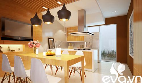 Thiết kế nhà liền kề 60m2 hiện đại, ấm cúng - 6