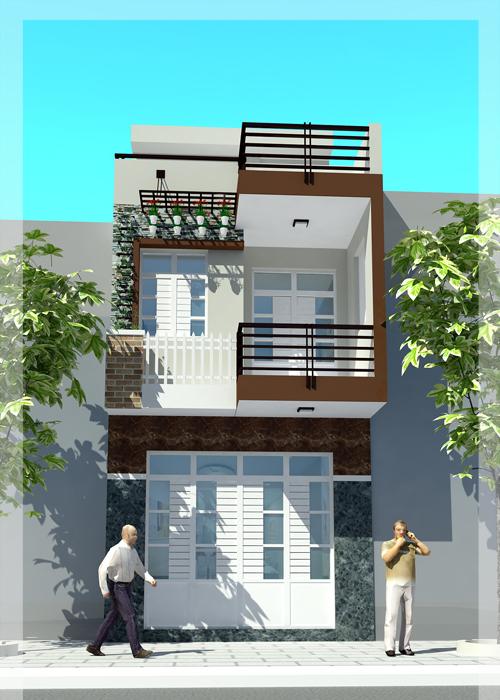 Tư vấn chi phí xây nhà 1 trệt 1 lầu, diện tích 5x16m