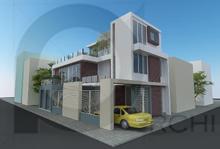 Thiết kế nhà 2 tầng 1 tum trên diện tích 180m2-(9 x 20m)