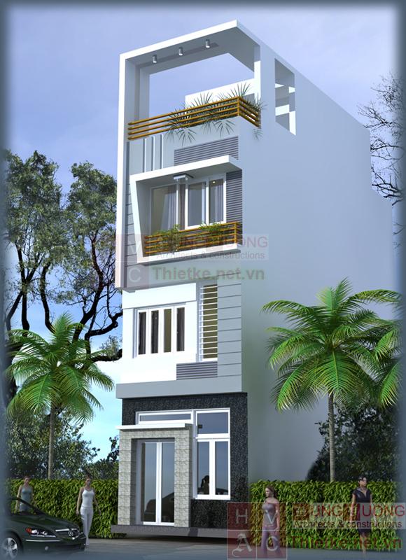 Tư vấn thiết kế nhà 3 tầng 1 tum trên diện tích 78m2