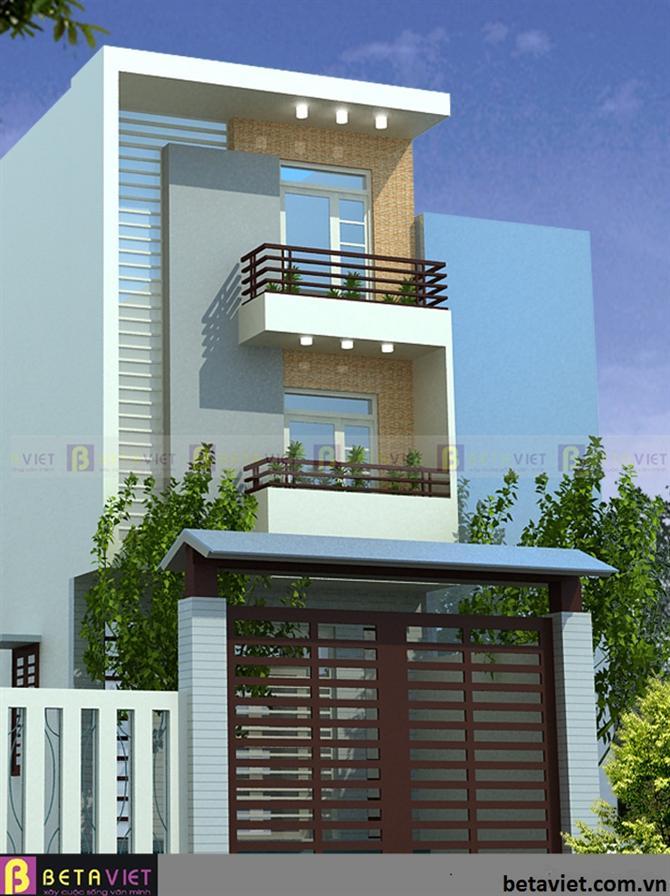 Tư vấn xây nhà 3 tầng trên đất rộng 68 m2
