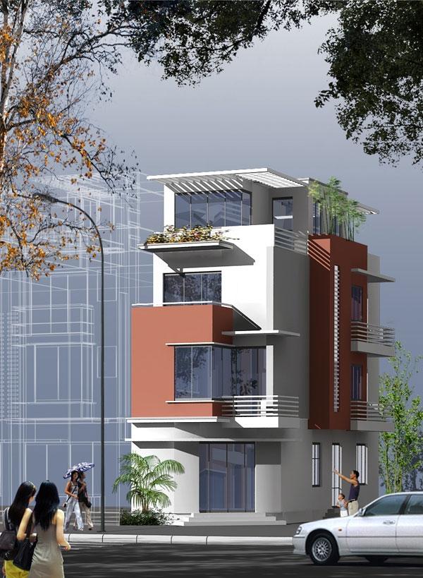 Tư vấn kiến trúc nhà liền kề diện tích 70m2 - 5x17m