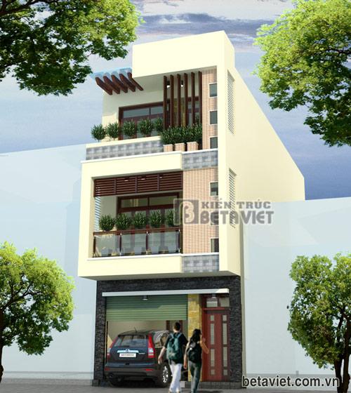 Tư vấn thiết kế nhà 3 tầng trên diện tích đất 5x15,3m