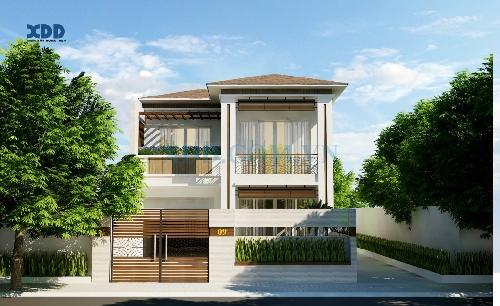 Thiết kế biệt thự 2 tầng phong cách hiện đại đơn giản