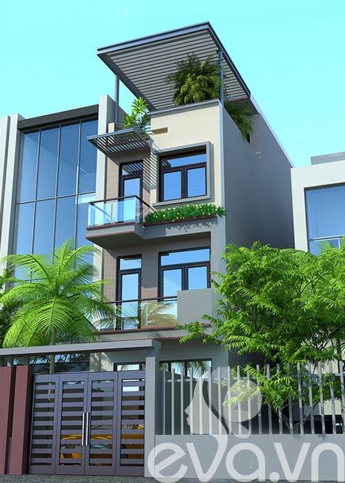 Thiết kế nhà phố diện tích 80m2