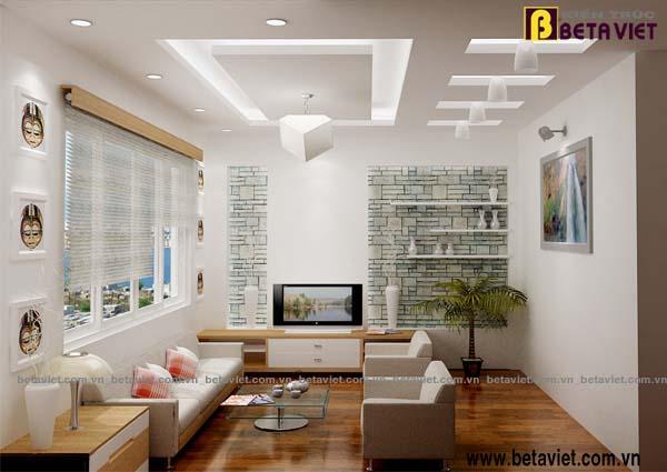 Thiết kế nội thất hiện đại cho phòng có diện tích hẹp